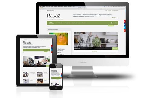 Rasa2 Responsive Joomla Magazine Template