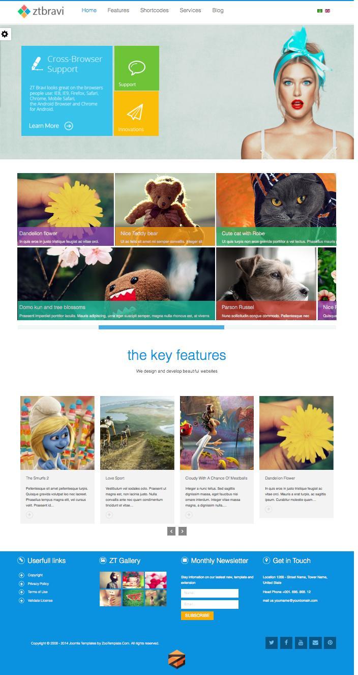 ZT Bravi – Responsive Metro UI Joomla Template
