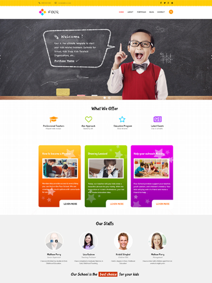 ZT Four Joomla Kindergarten Template