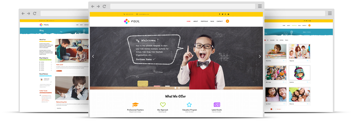 ZT Four Joomla School & Kids Shop Template