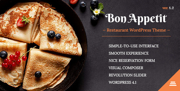 Bon Appetit WordPress Restaurant Theme