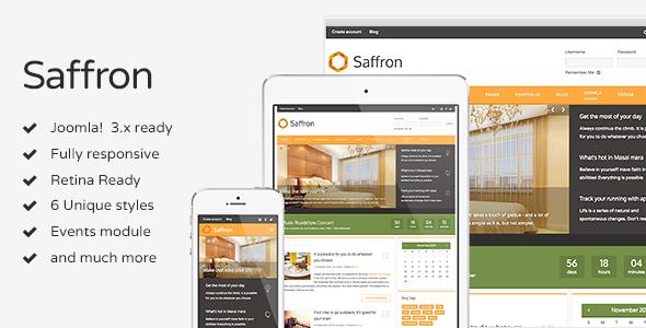 Saffron Joomla Multi-Concept Design Template