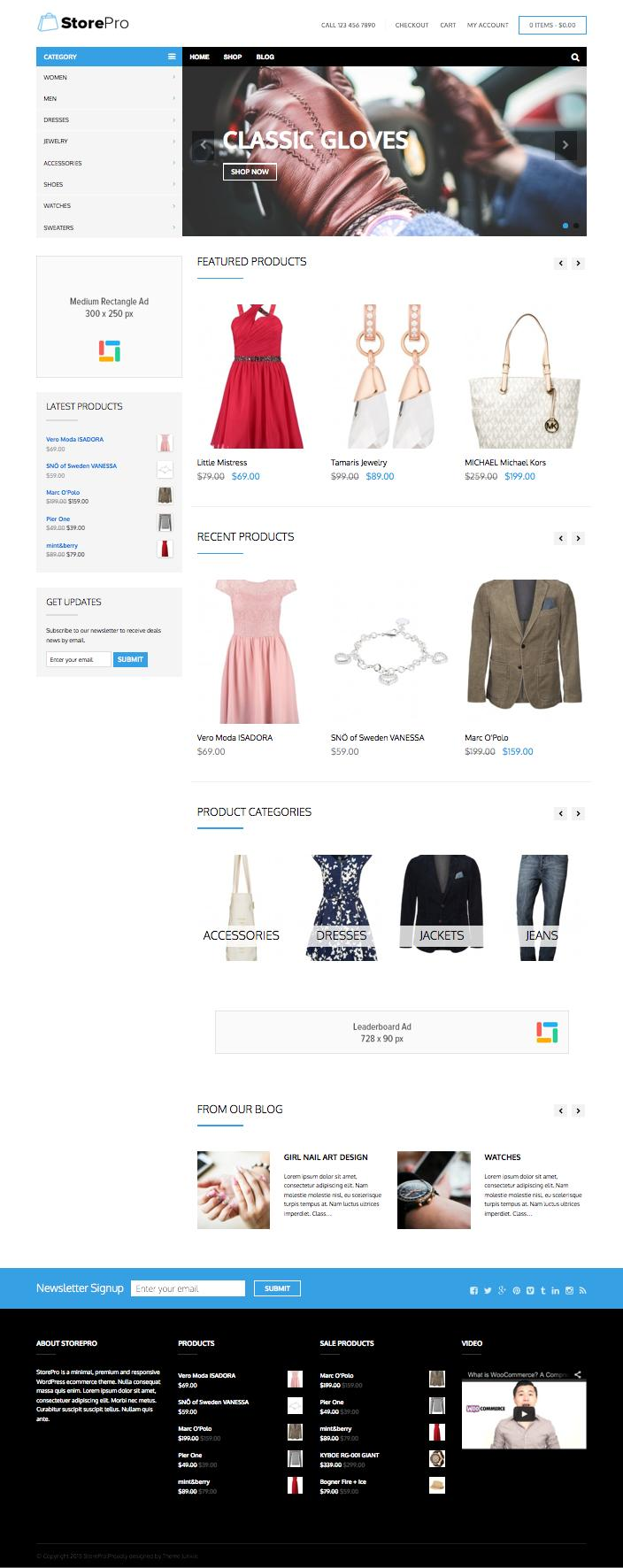 StorePro WordPress Simple Modern eCommerce Theme