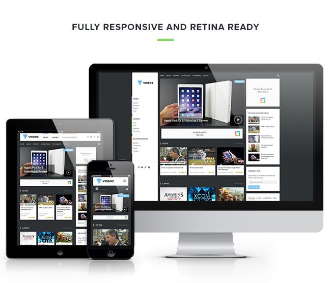 VideoZ WordPress Responsive Video Review Theme