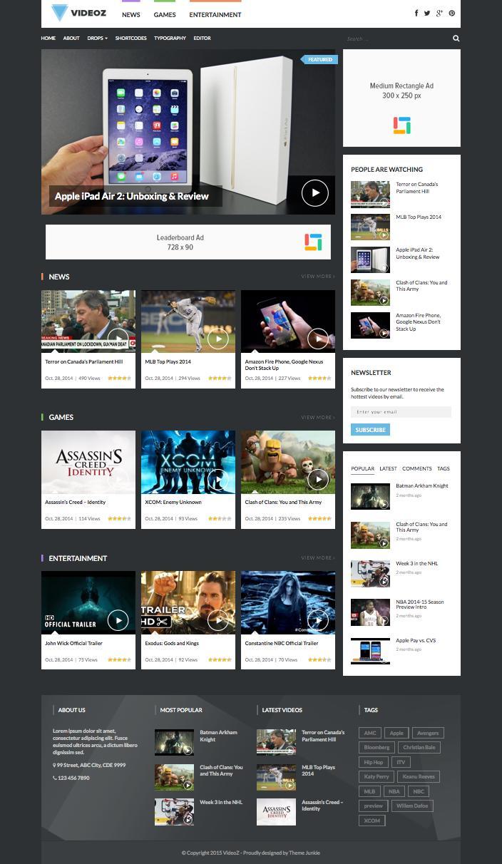 VideoZ WordPress Video Blogging Theme
