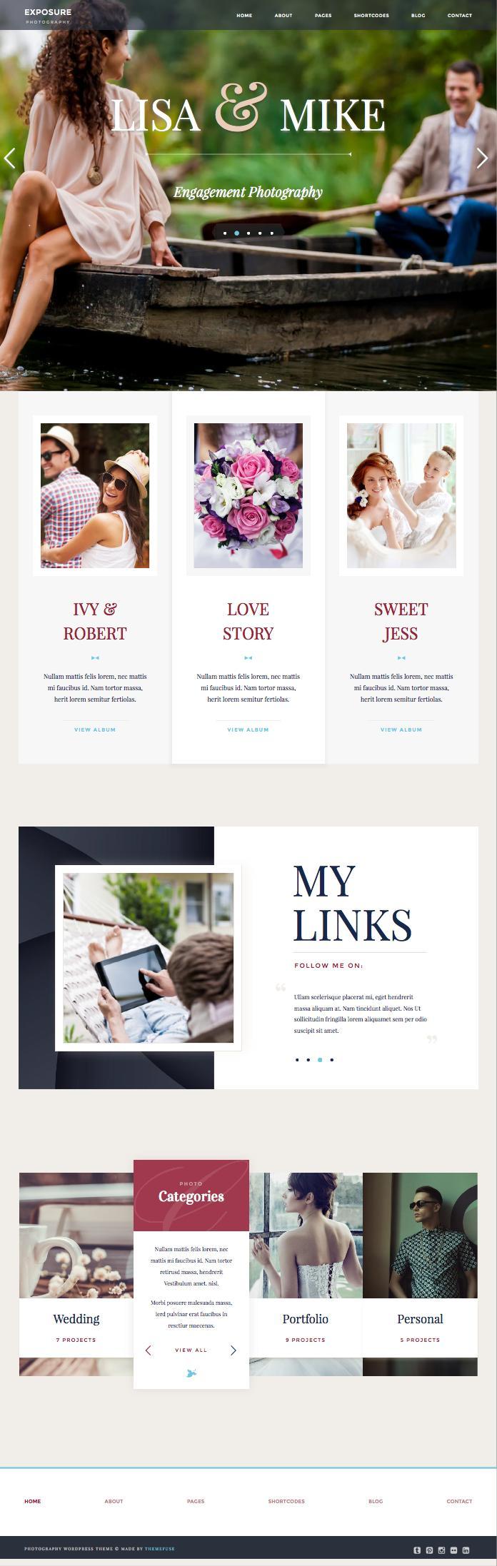 Exposure WordPress Professional Photographers Theme