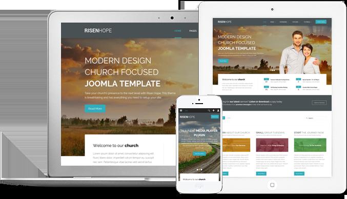 Risen Hope Responsive Joomla Modern Church Template