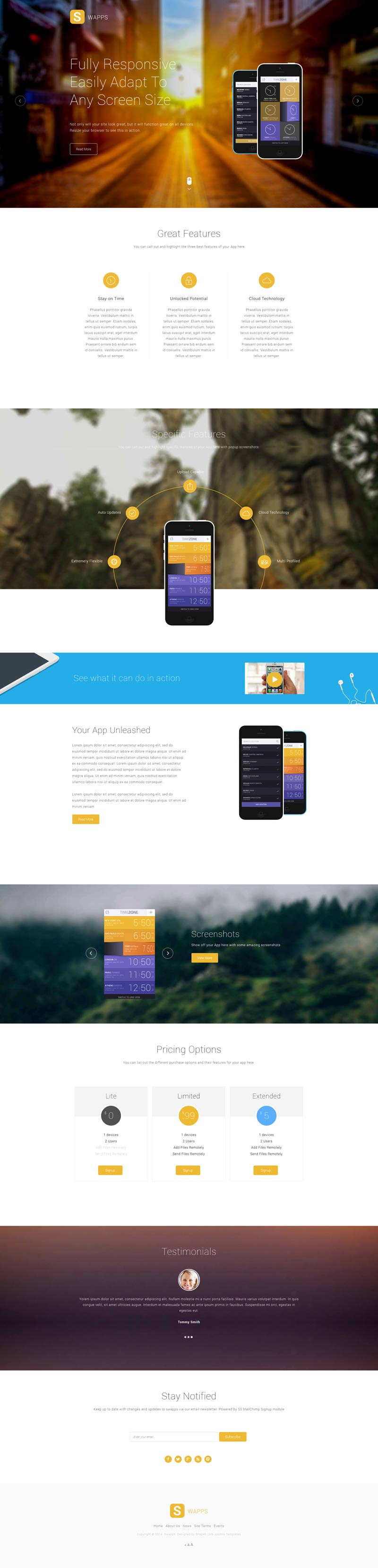 Swapps Joomla App Store Template