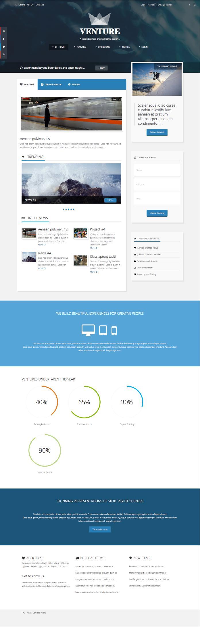 Venture Responsive Joomla Business Template