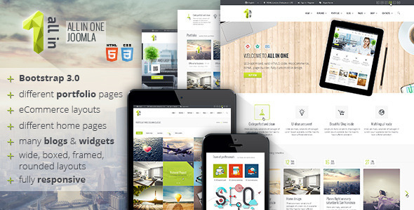 All In One Multipurpose Joomla Corporate Template