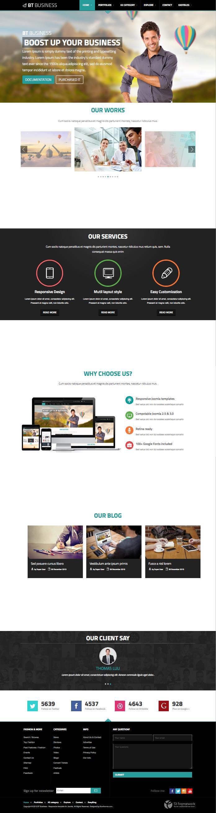BT Business Joomla Multi Layout Corporate Template