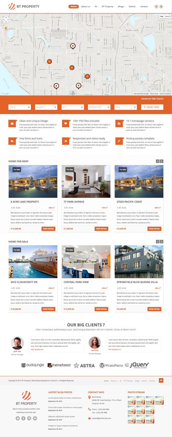 BT Property Joomla Real Estate Template