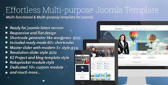 Effortless Multipurpose Joomla Business Template