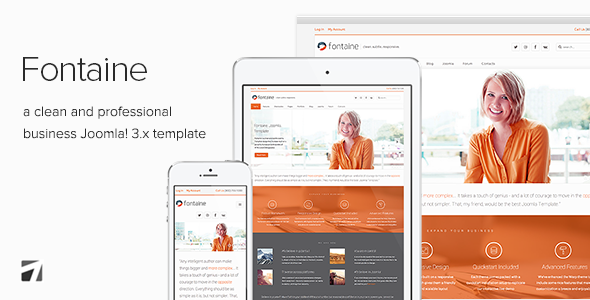 Fontaine Professional Business Joomla Template