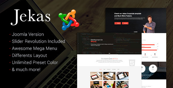 Jekas Joomla Professional Business Portfolio Template