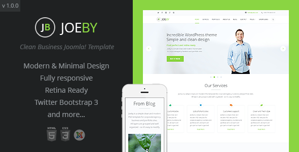Joeby Clean Business Joomla Template