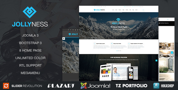 Jollyness Responsive Joomla Production Template
