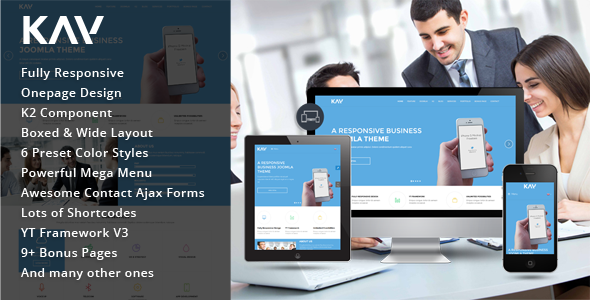 Kay One Page Design Joomla Business Template