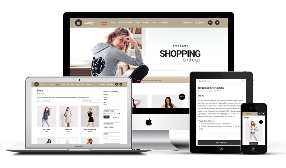 Luxury Responsive WordPress Shopping Theme