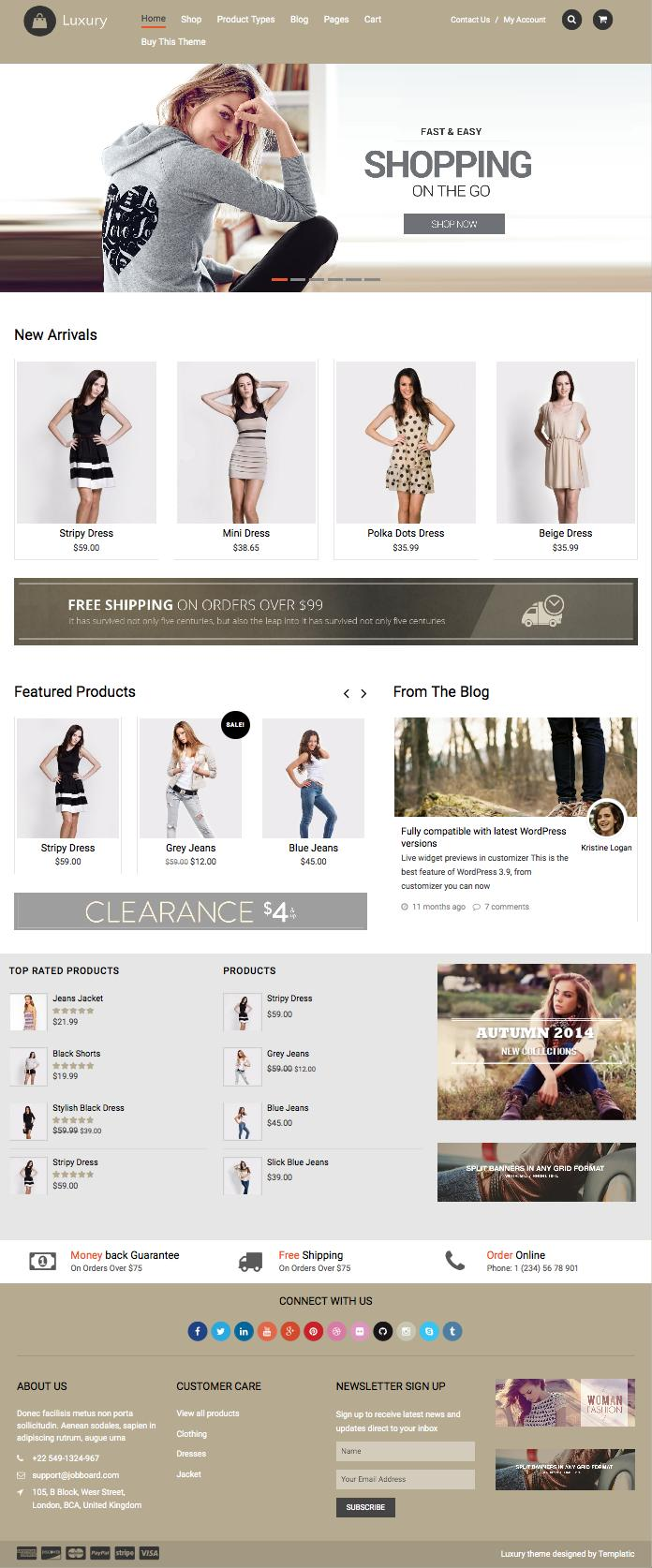 Luxury WordPress Online Shopping Store Theme