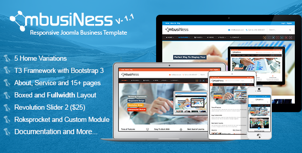 MbusiNess Joomla Modern Responsive Business Template