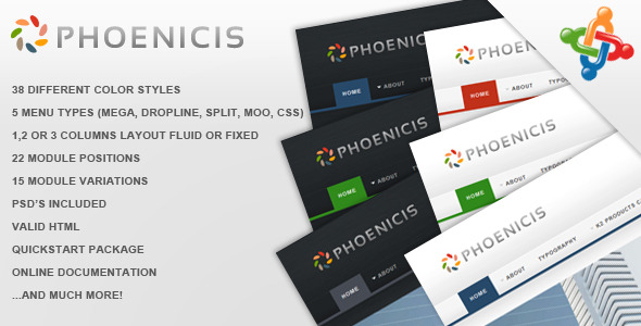 Phoenicis Joomla Business Web Design Template