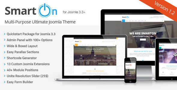 SmartOn Joomla Ultimate Multipurpose Corporate Template