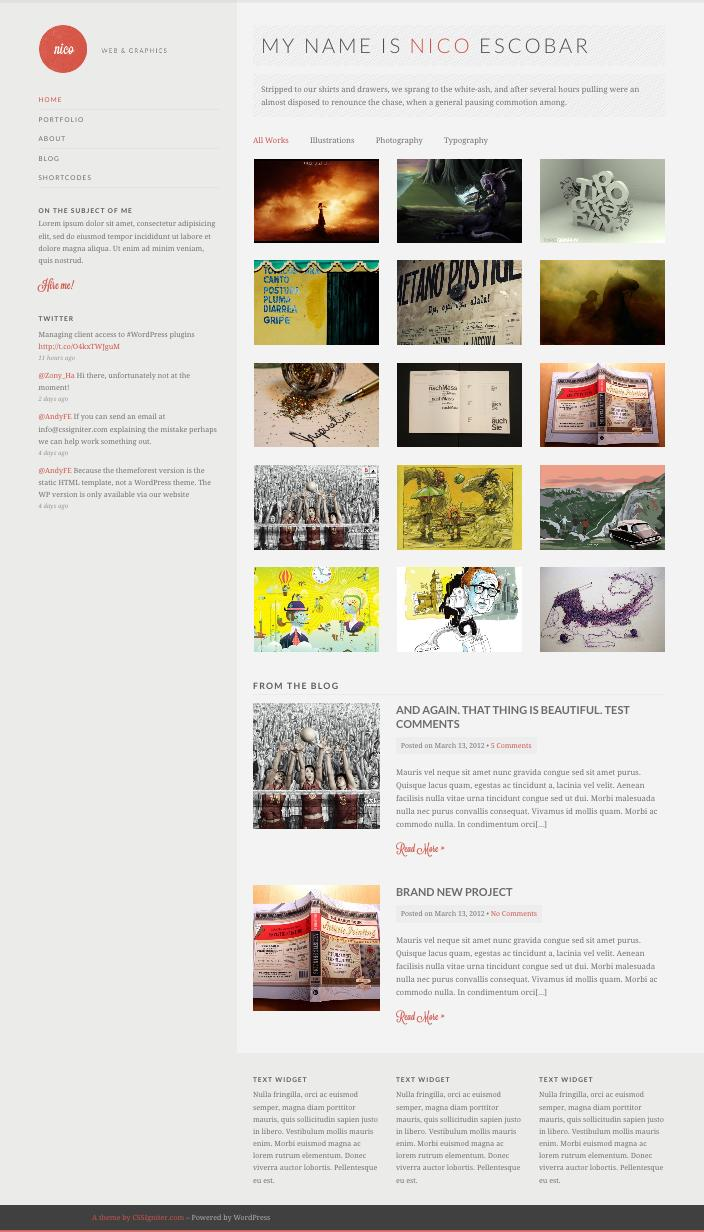 Nico WordPress Showcase Portfolio Work Theme