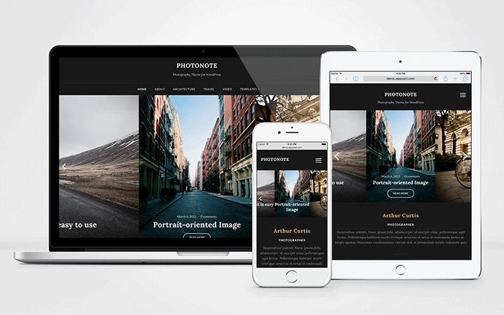 PhotoNote 2.0 WordPress Photographers Theme