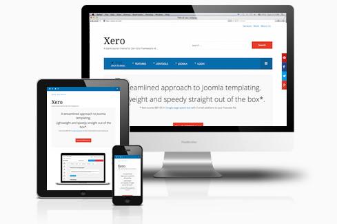 Xero Responsive Joomla SEO Optimized Template