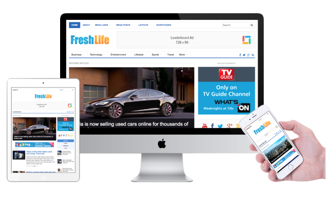 FreshLife 3.0 Responsive WordPress Magazines Theme
