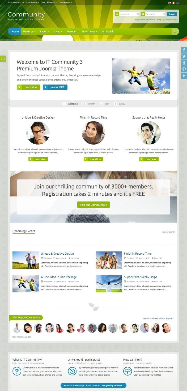IT Community 3 Joomla Socialize Template for Fun & Enjoyment