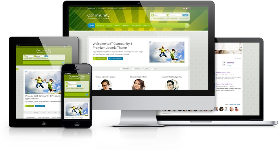 IT Community 3 Joomla Socialize Template