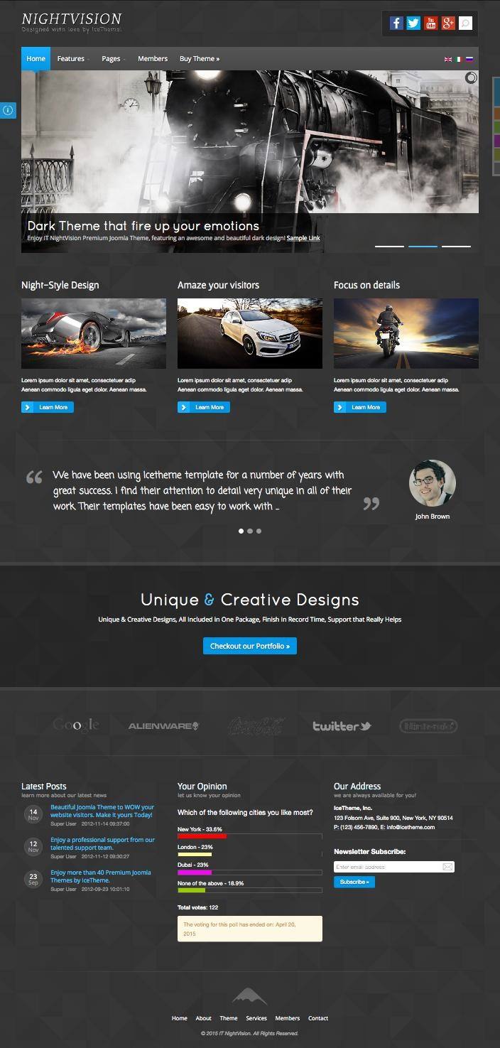 IT NightVision Joomla Dark Design Template