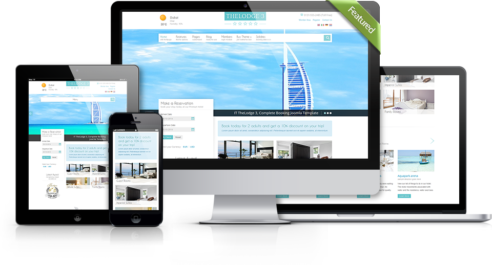 It thelodge 3 joomla online hotel rooms booking template for Joomla hotel template