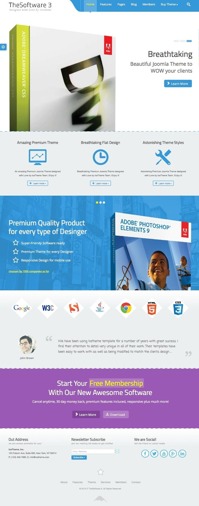 IT TheSoftware 3 Flat Design Joomla Theme