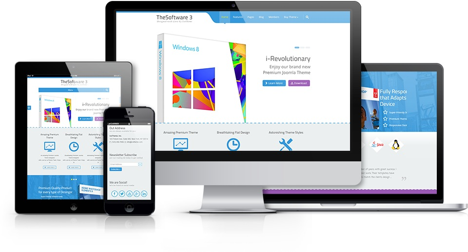 it thesoftware 3 joomla template for selling software products