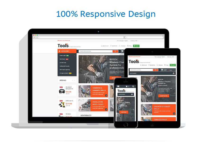 Online Toolbox Responsive Magento Theme