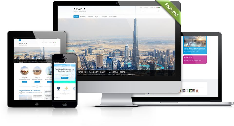 IT Arabia Joomla RTL Based Arab Countries Template