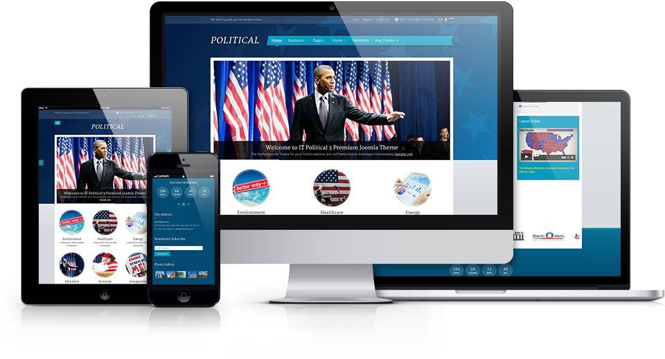 IT Political 3 Joomla Constitutional Template