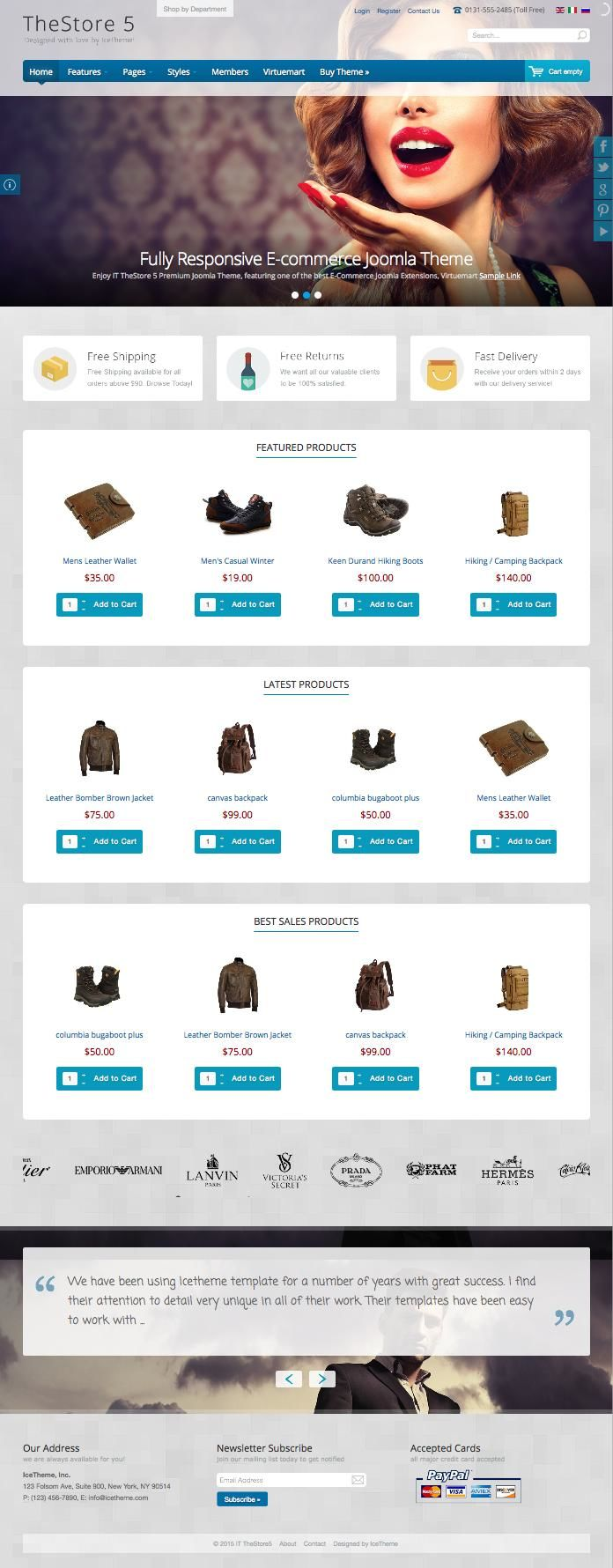 IT TheStore 5 Joomla eCommerce Store Template