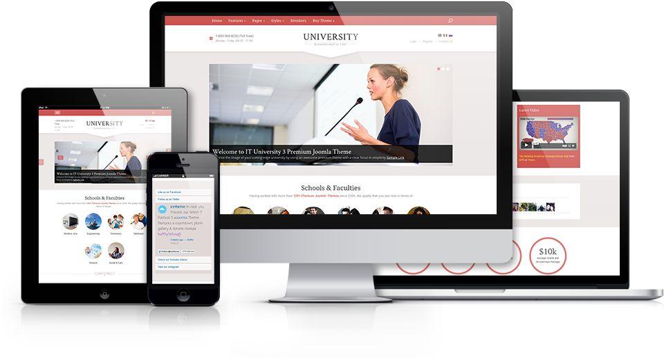 IT University 3 Responsive Joomla Education Template