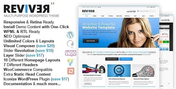 Reviver MultiPurpose Responsive WordPress Theme