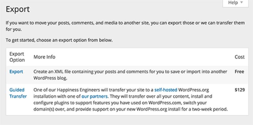 Export Your Blog Data