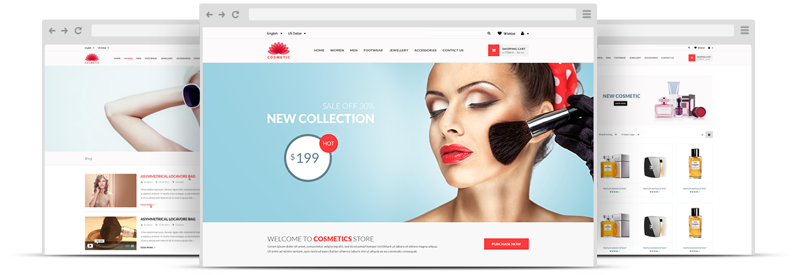 ZT Cosmetic Store Joomla VirtueMart Template