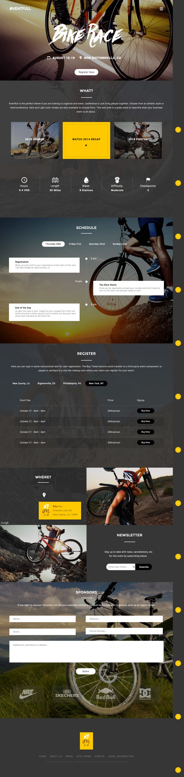 Eventfull Joomla Athletic Style Template