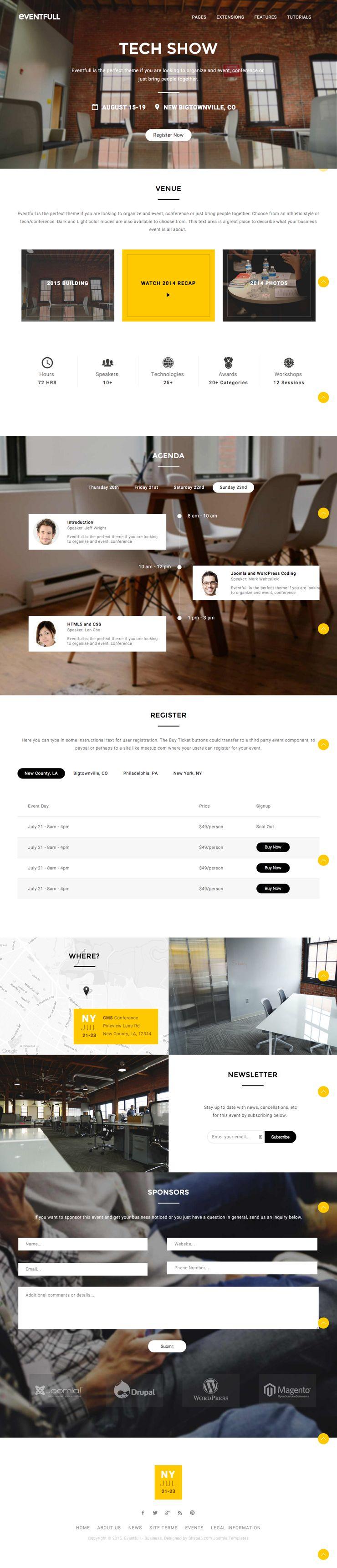 Eventfull Joomla Business Style Template