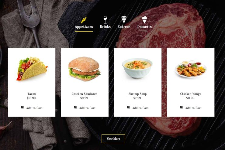 fresh bistro joomla food restaurant or dining template