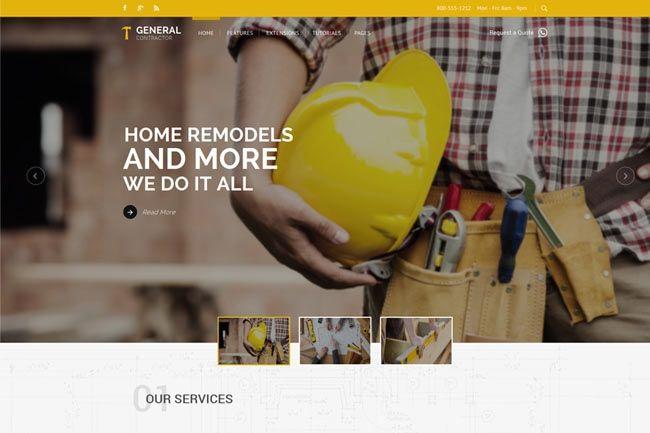 General Contractor Joomla Template For Plumber