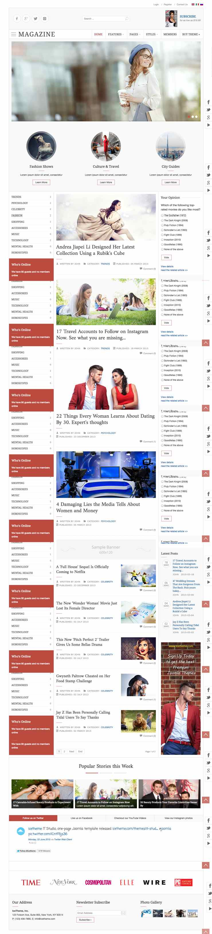 IT Magazine 2 Joomla News Journal Template